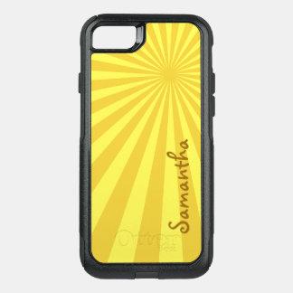 あなたの名前の黄色い日が差すことパターン: カスタム オッターボックスコミューターiPhone 8/7ケース