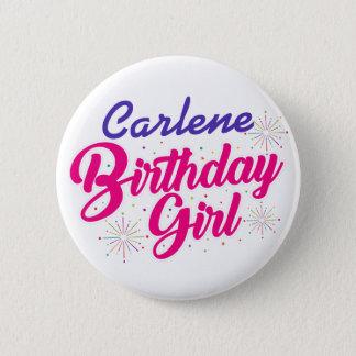 (あなたの名前の)誕生日の女の子 缶バッジ