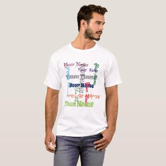 あなたの名前をカスタムするまたは文字のタイポグラフィ Tシャツ