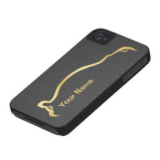 """""""あなたの名前"""" STI Imprezaの金ゴールドのシルエット加えて下さい Case-Mate iPhone 4 ケース"""
