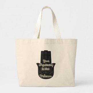 「あなたの否定性Hamsaの望まれなかった」はデザインではないです ラージトートバッグ
