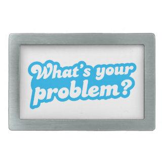 あなたの問題は何ですか。 青 長方形ベルトバックル