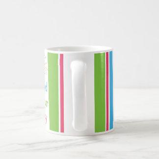 あなたの喜び日曜日を見つけて下さい及び縞で飾ります コーヒーマグカップ