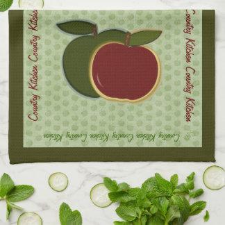 あなたの国のりんごを個人化して下さい キッチンタオル