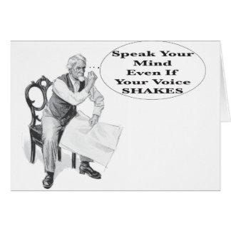 あなたの声が揺れてもあなたの心を話して下さい カード