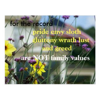 あなたの声が聞かれるようにして下さい!  ない家庭の大切さ ポストカード