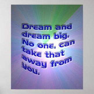 あなたの夢のインスピレーションポスターを夢を見て下さい プリント