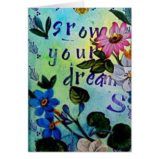 あなたの夢の断言カードを育てて下さい カード