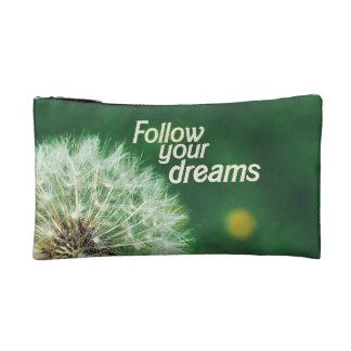 あなたの夢を後を追って下さい コスメティックバッグ