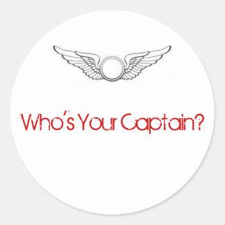 あなたの大尉はだれですか。 ステッカー