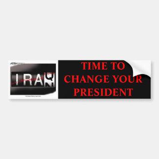 あなたの大統領-赤いフォント--を変える時間 バンパーステッカー