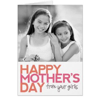 あなたの女の子からの幸せな母の日! グリーティングカード