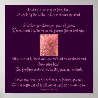 あなたの妖精の土地の私のために、…詩ポスター踊って下さい ポスター