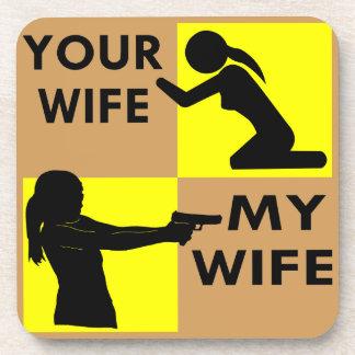 あなたの妻対あなたがまたは頼むことができる私の妻の自衛 コースター
