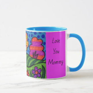 あなたの子供の芸術のコーヒー・マグ色のハンドルの母の日 マグカップ