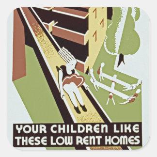 あなたの子供はこれらの低家賃の家を好みます スクエアシール