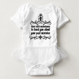あなたの子供は中世引用文を教えるために不品行な振舞いをいます ベビーボディスーツ