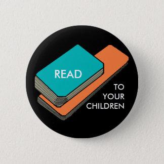 あなたの子供への読書 5.7CM 丸型バッジ