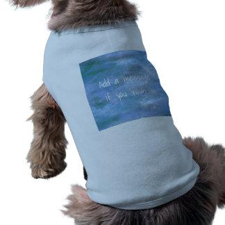 あなたの小犬によって肋骨で補強されるタンクトップをカスタマイズ ペット服
