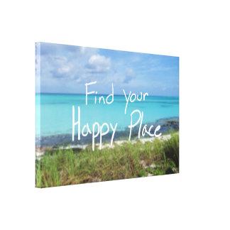 あなたの幸せな場所を見つけて下さい キャンバスプリント