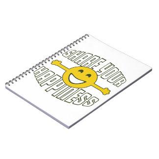 あなたの幸福を共有して下さい ノートブック