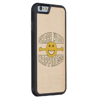 あなたの幸福を共有して下さい CarvedメープルiPhone 6バンパーケース