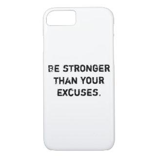 あなたの弁解より強いがあって下さい。  やる気を起こさせるな引用文 iPhone 8/7ケース