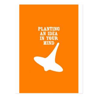 あなたの心のアイディアを植えて下さい ポストカード