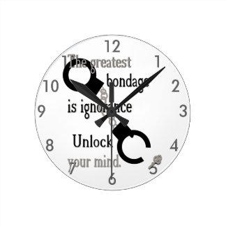 あなたの心の時計の鍵を開けて下さい ラウンド壁時計