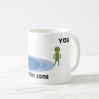 あなたの心地よい地帯の外で得て下さい コーヒーマグカップ