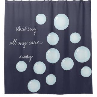 あなたの心配の遠くにな泡シャワー・カーテンをすべて洗浄して下さい シャワーカーテン
