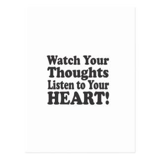 あなたの思考があなたのハートに聞くのを見て下さい! - Stacke ポストカード
