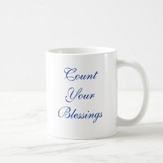 あなたの恵みを数えて下さい コーヒーマグカップ