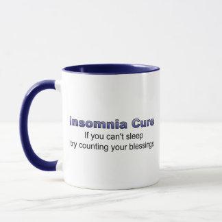 あなたの恵みを数える不眠症の治療の試み マグカップ