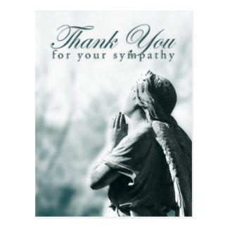 あなたの悔やみや弔慰をありがとう(天使を祈る) ポストカード
