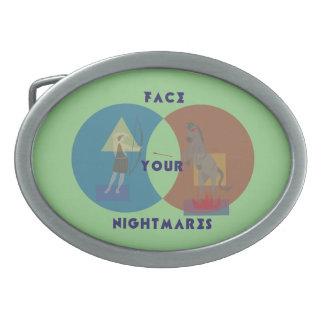あなたの悪夢のベルトの留め金に直面して下さい 卵形バックル