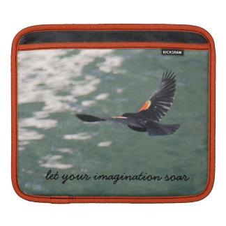 あなたの想像が飛んでいるなiPadの袖鳥の上昇するようにして下さい iPadスリーブ