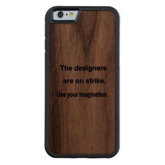 あなたの想像のデザインを使用して下さい CarvedウォルナッツiPhone 6バンパーケース