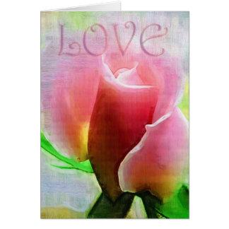 あなたの愛の美しいはバラを食します カード