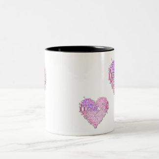 あなたの愛を表現して下さい! ツートーンマグカップ