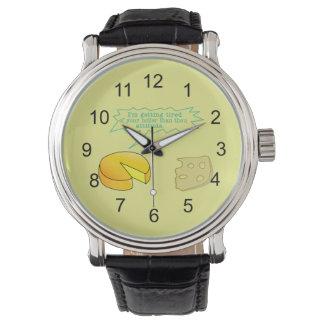 あなたの態度のチーズより神聖 腕時計