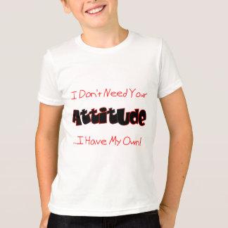 あなたの態度(赤い) Tシャツ