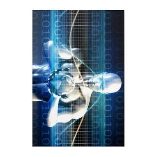 あなたの手のやし内の新しい未来の技術 アクリルウォールアート
