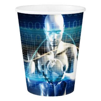 あなたの手のやし内の新しい未来の技術 紙コップ