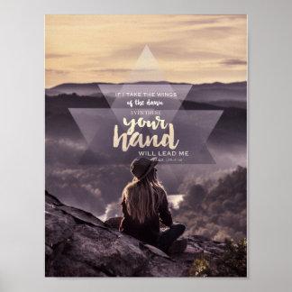 あなたの手は私をポスター導きます ポスター