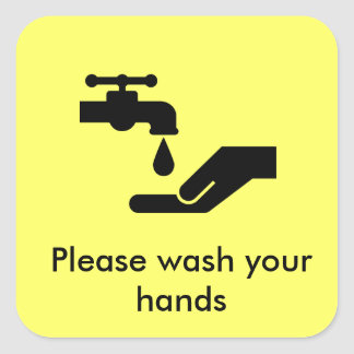 あなたの手を洗浄して下さい スクエアシール