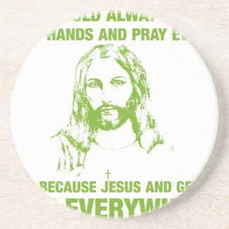 あなたの手を洗浄し、-イエス・キリストおよび細菌…祈って下さい コースター