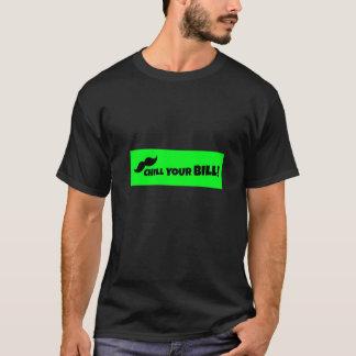 あなたの手形のTシャツのbkを冷やして下さい Tシャツ