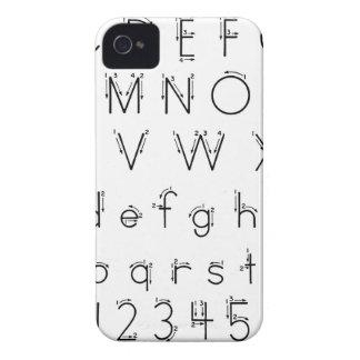あなたの手紙-アルファベットの手書き--を形作る方法 iPhone 4 ケース