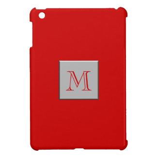 あなたの手紙。 カスタムなモノグラム。 銀製の赤 iPad MINI CASE